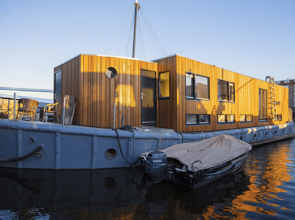 Your fishing cabin is located in the front of the ship.