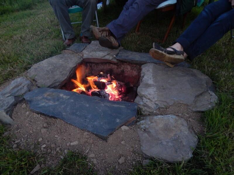 Open pit fire