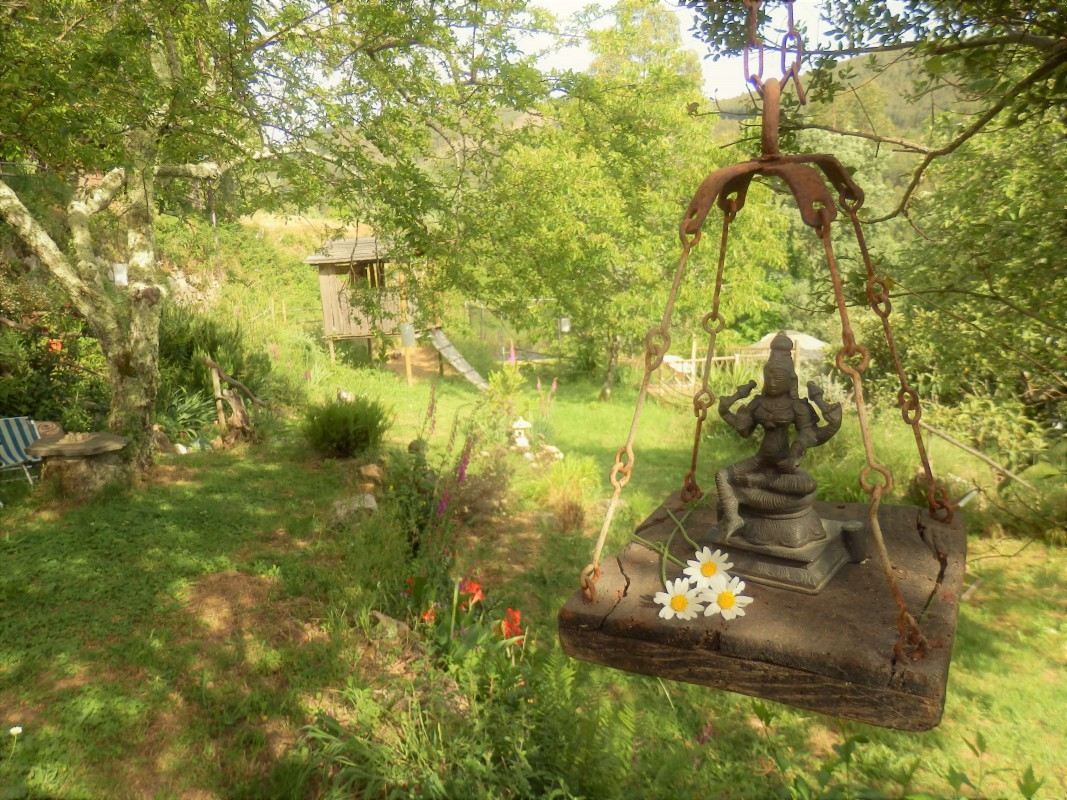 Saraswati in the garden