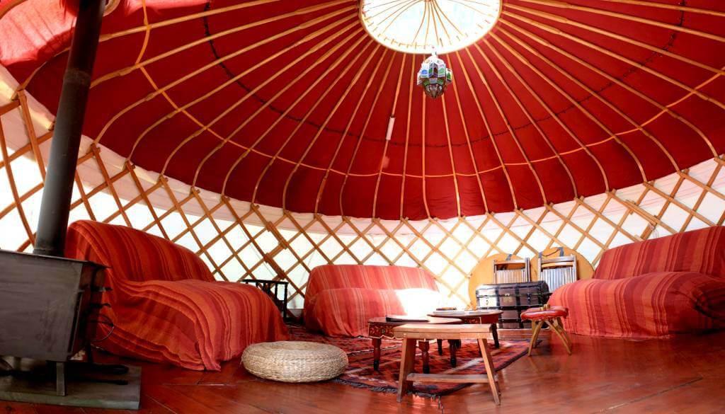 Long Valley Yurts inside