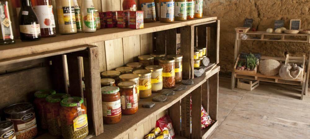 Well stocked farm shop