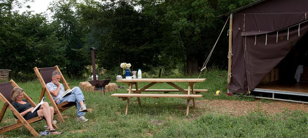 Many lovely picnic spots including by your tent