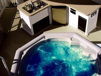 Enjoy the good outdoor life in your hot tub.
