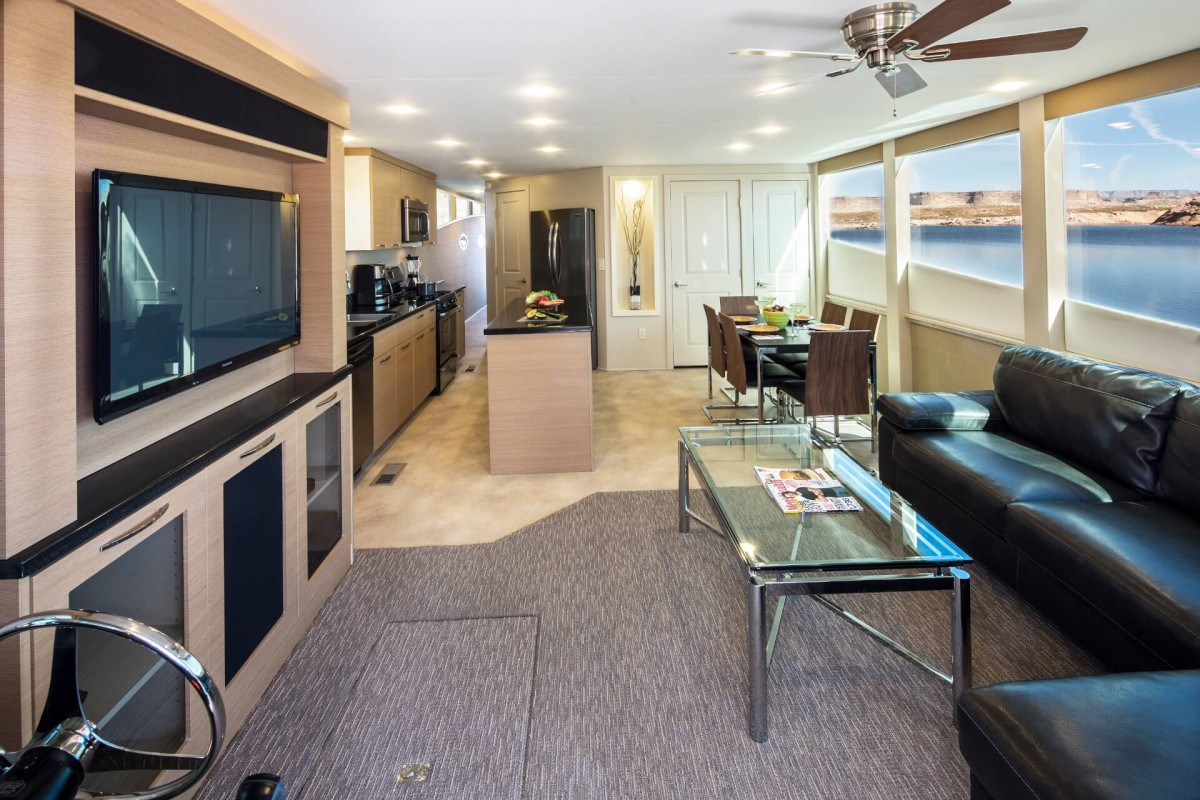The living room and kitchen offer all amenities you can possibly think of.