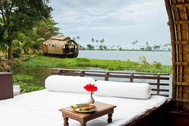 The Kerala Houseboat in her natural environment.