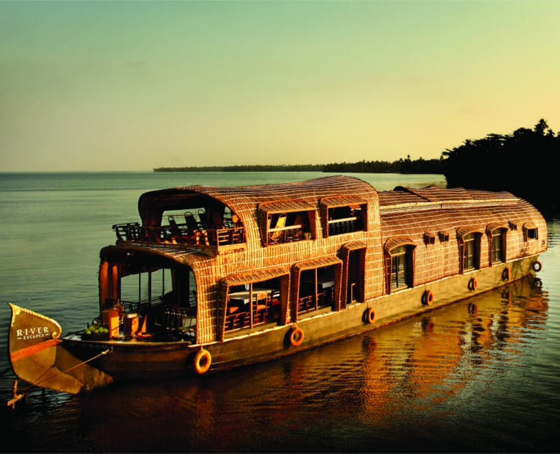 The ultimate way to enjoy the Kerala backwaters.