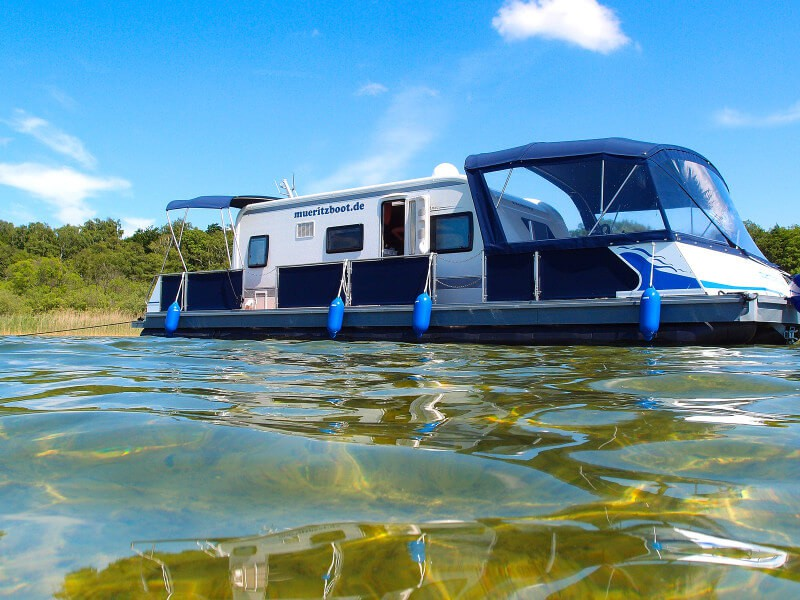 Best of both worlds: combining the flexibility of a yacht with the luxury of a high end caravan.