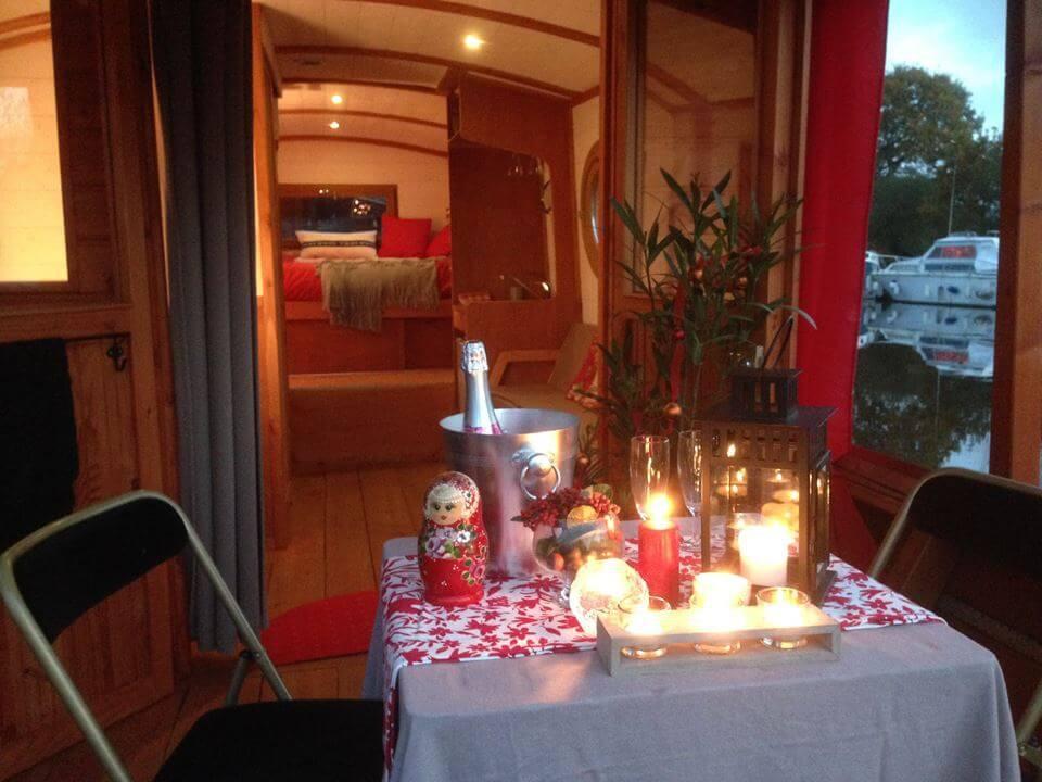 Imagine having a romantic dinner