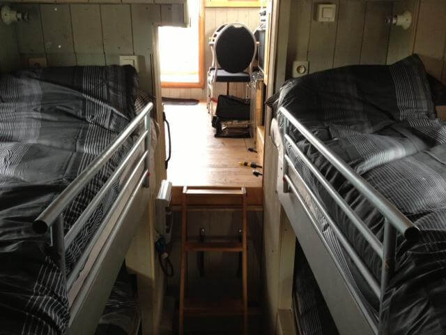 Two comfortable bunk beds