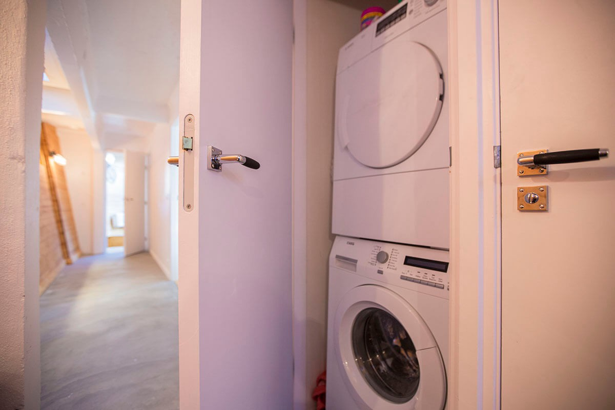 High end washing machine and dryer.