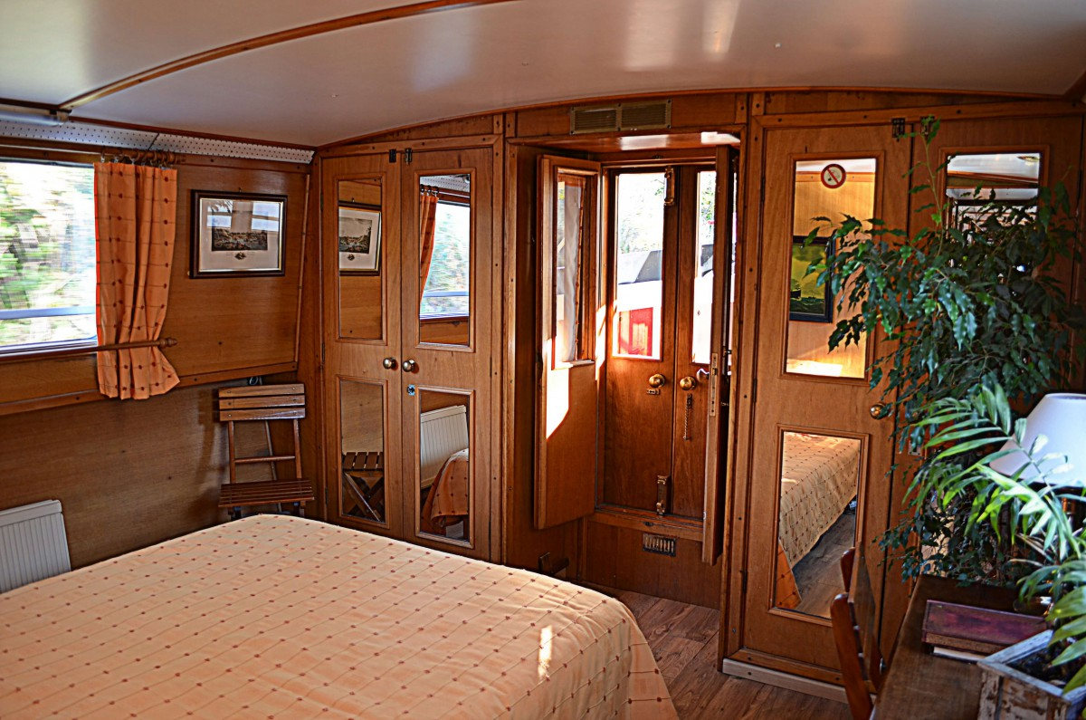 The Master cabin offers a large double bed.