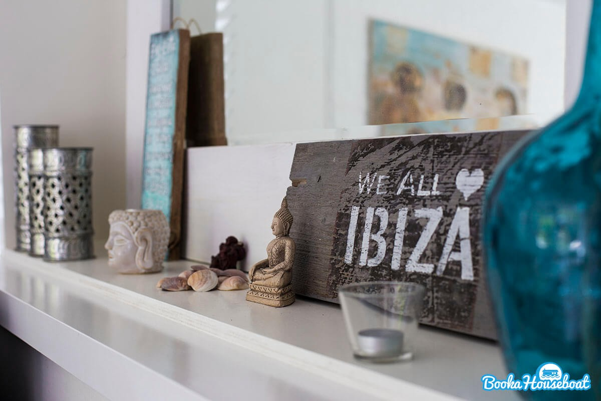 Enjoy the laid back bohemian Ibiza style of the boat.