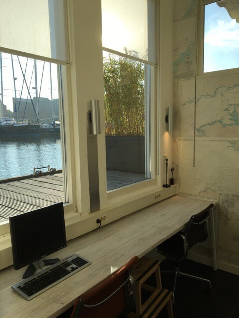Lovely view over the water from the nautical room