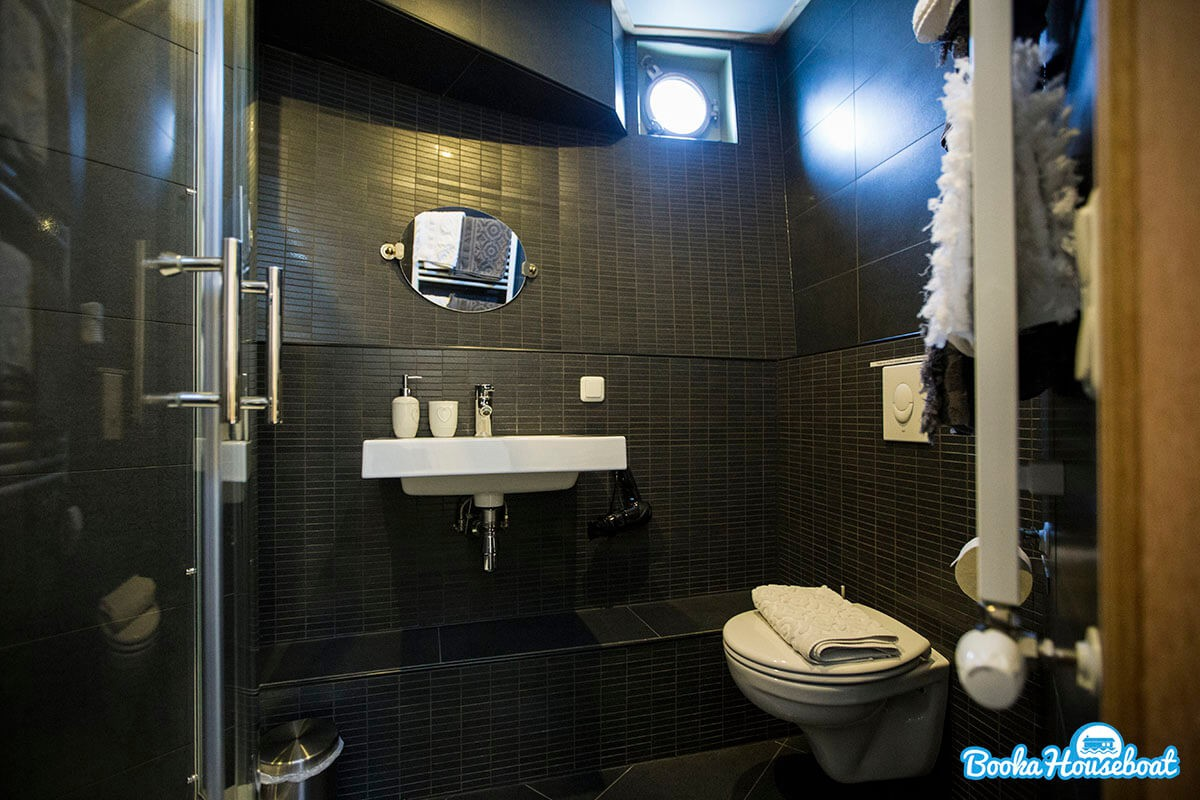 The room has a private bathroom with toilet.