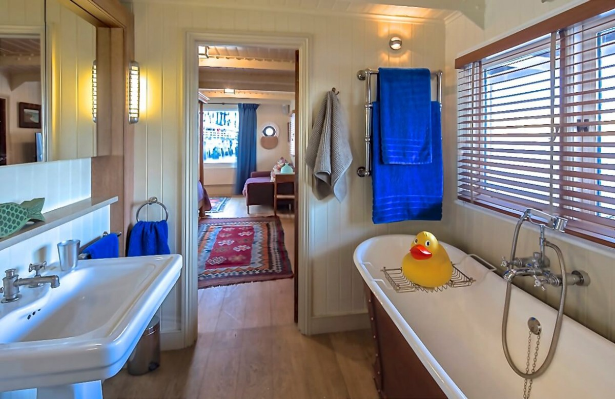 Cabin 1 en-suite bathroom, with a separate shower