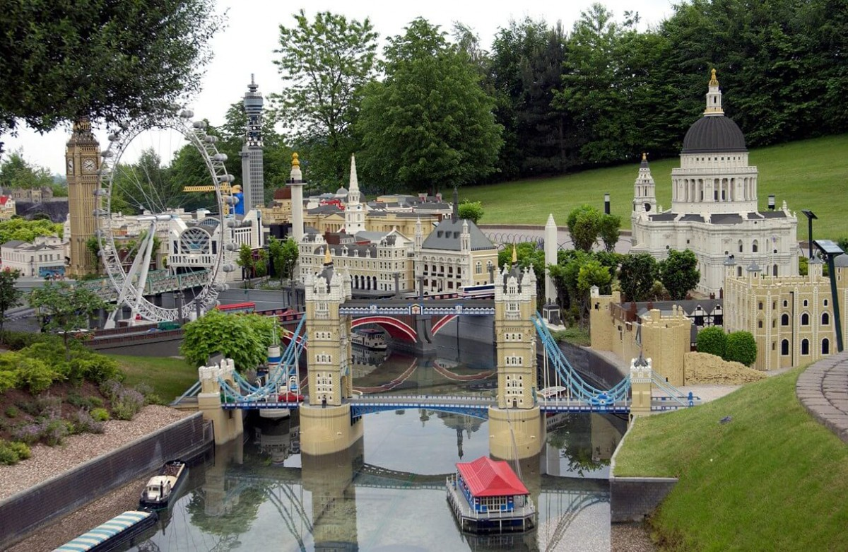 Harpy featured in the Legoland model of London
