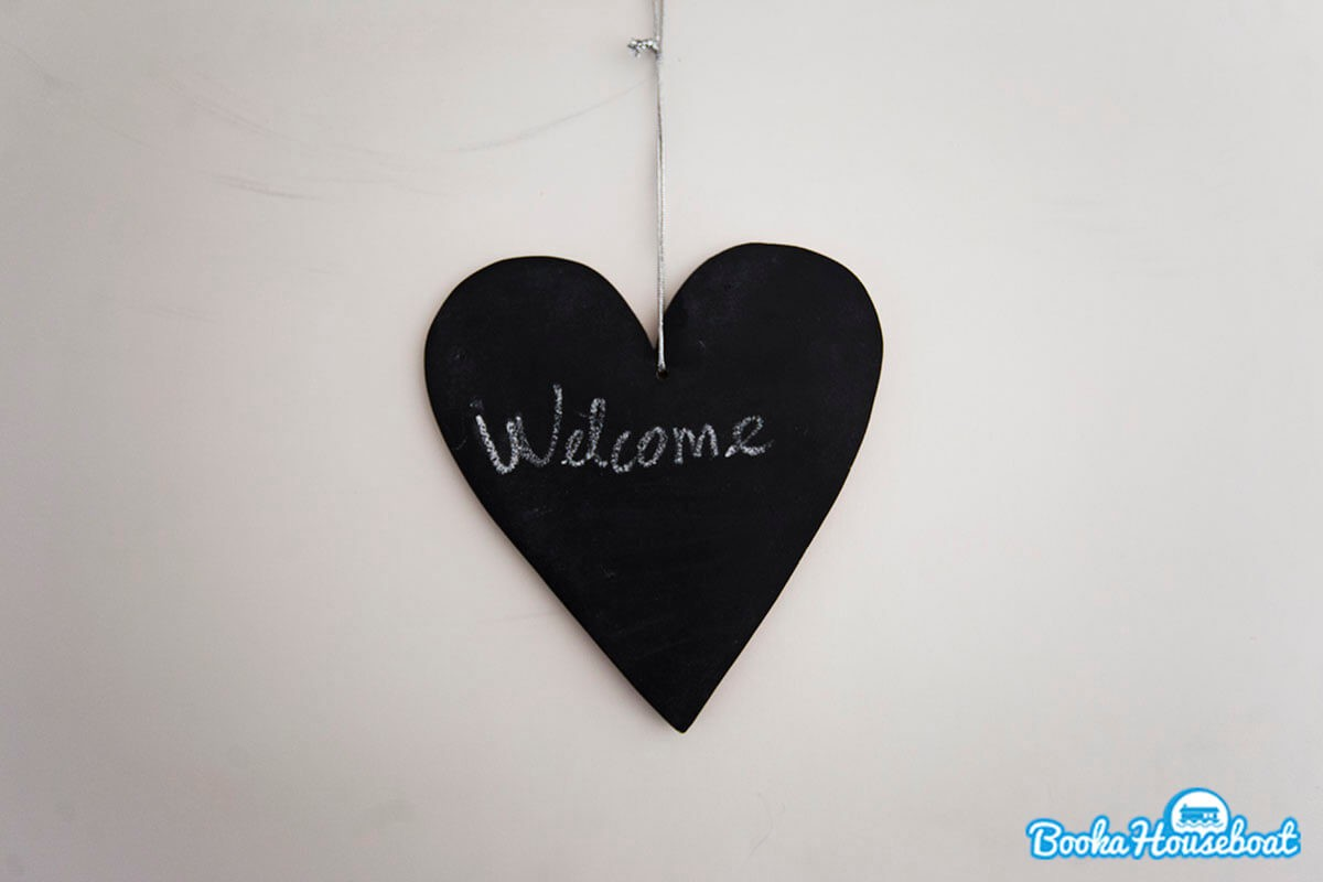 Heart with Welcome sign