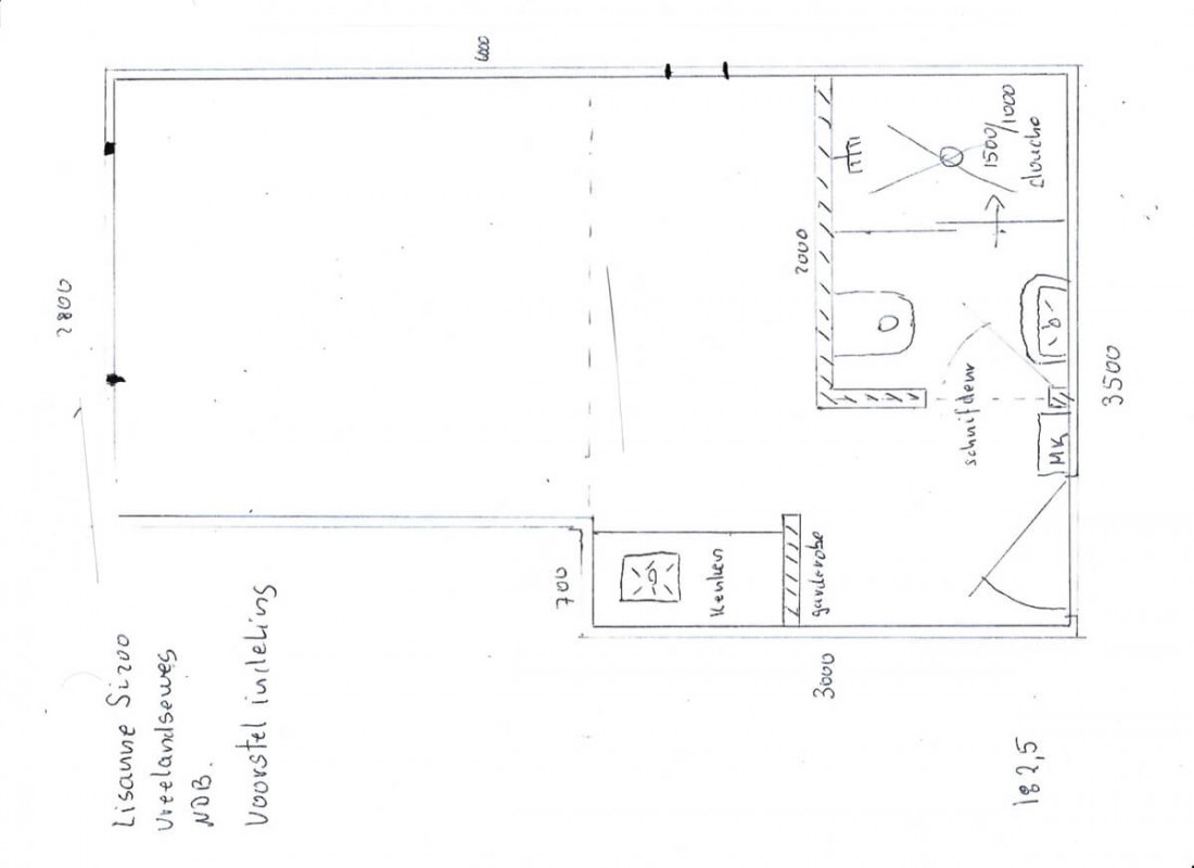 Layout of studio