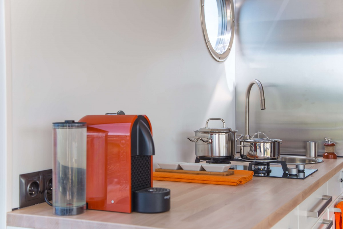 Kitchen with nespresso machine