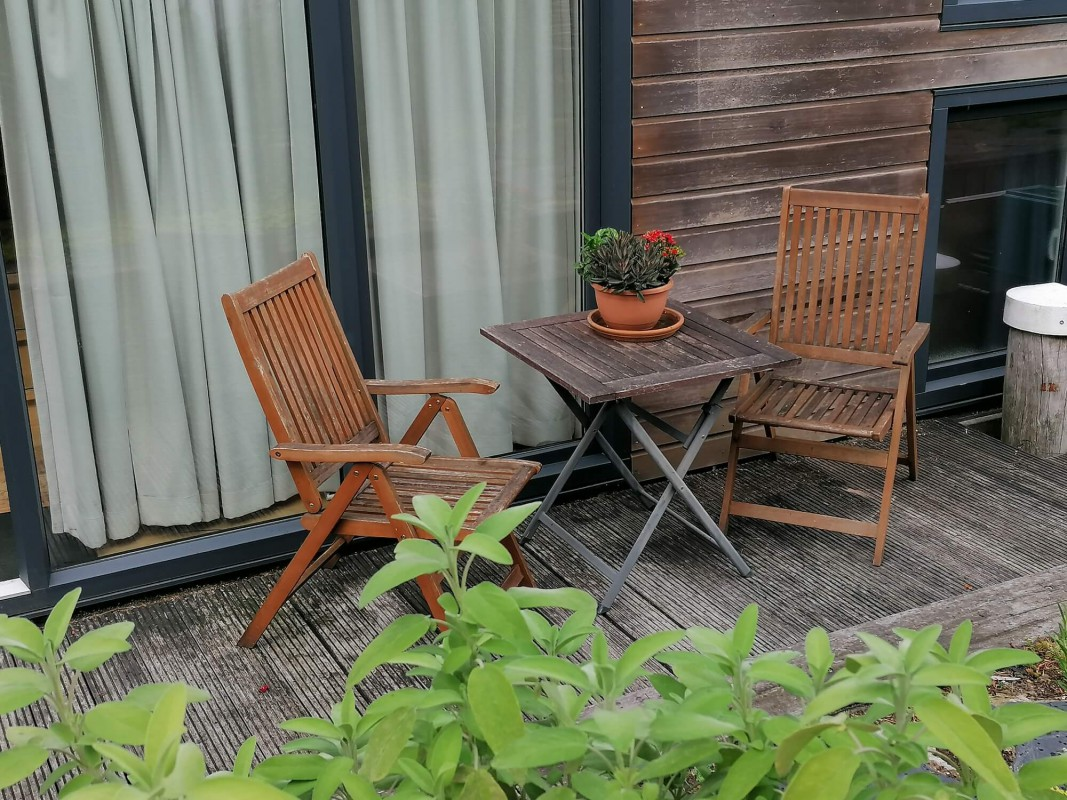 Enjoy the morning sun or afternoon shade on the terrace