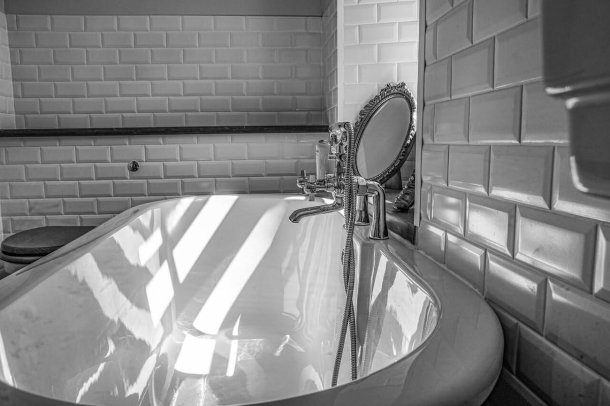 Luxury bathing in our master bathroom