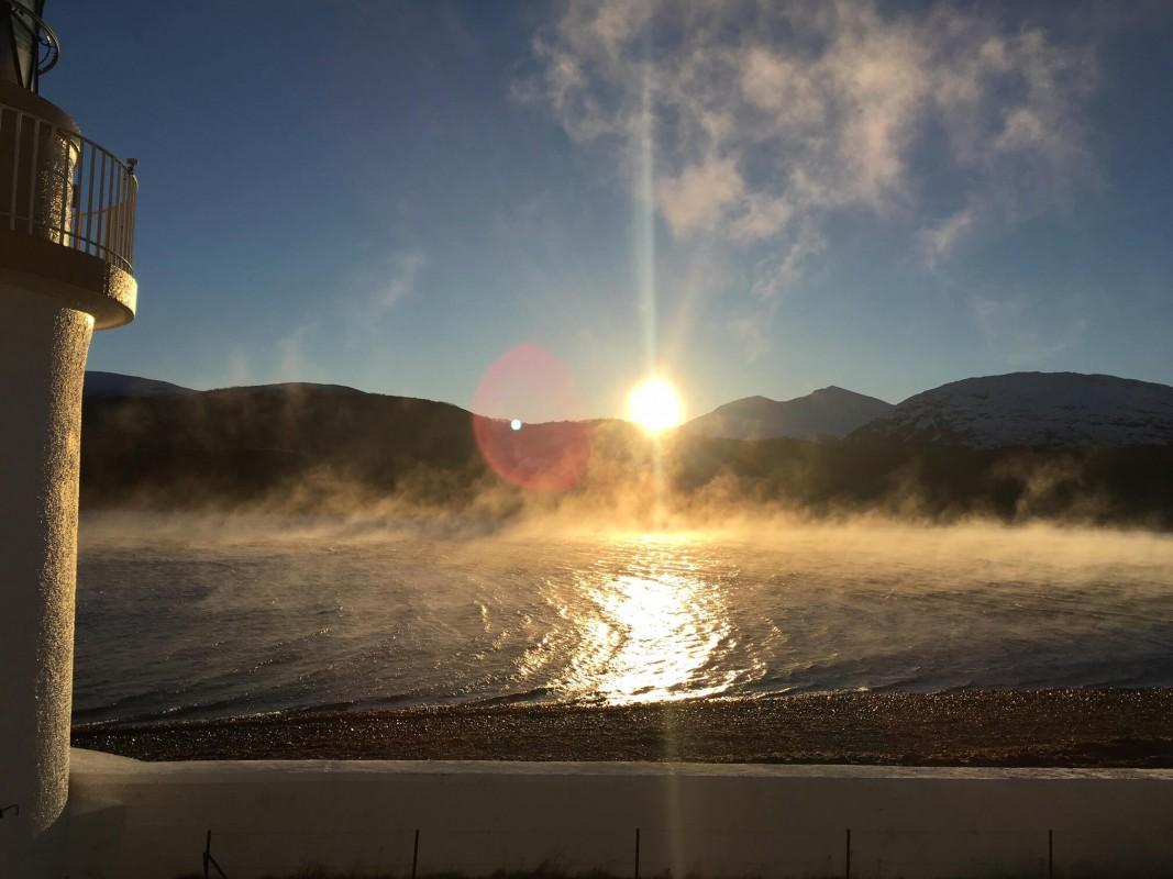 Sea fog bowling down Loch Linnhe