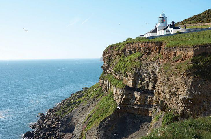 View of the lighthouse from the clifss