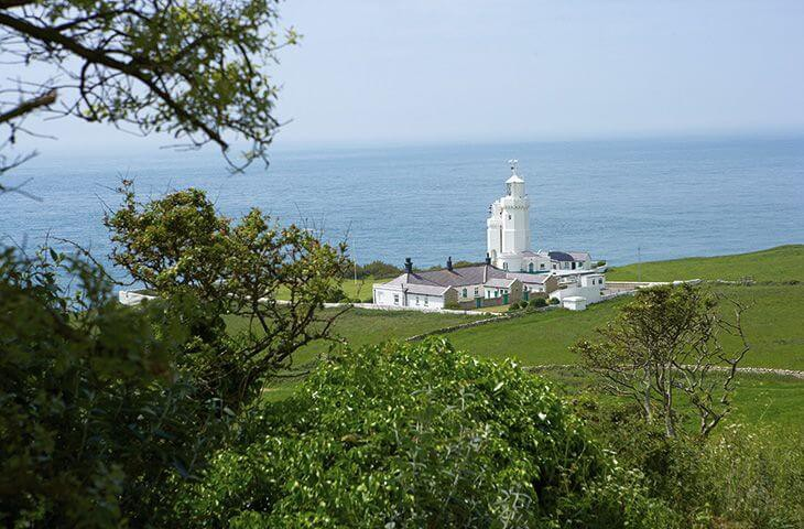 St. Catherine's Lighthouse and cottages