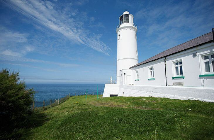 Trevose Head Lighthouse and cottages