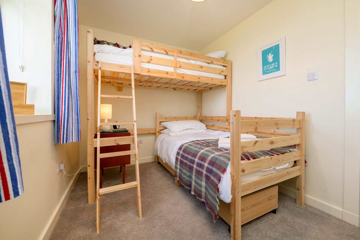 Our large bunks are great for adults and fun for children