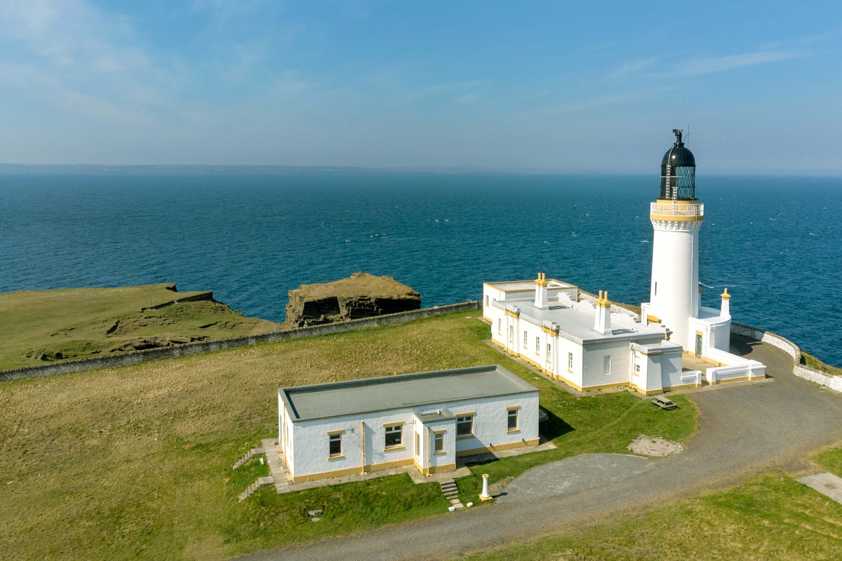 The lighthouse was built in 1859 and is still in use today