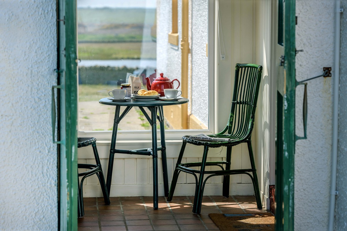 Enjoy brunch in our porch - with sea views