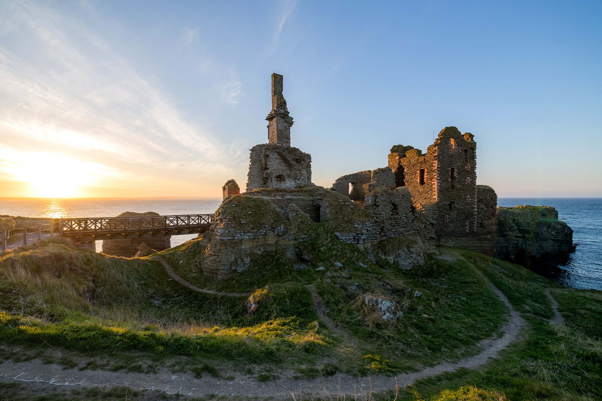 Explore ruined Castle Girnigoe nearby on the headland