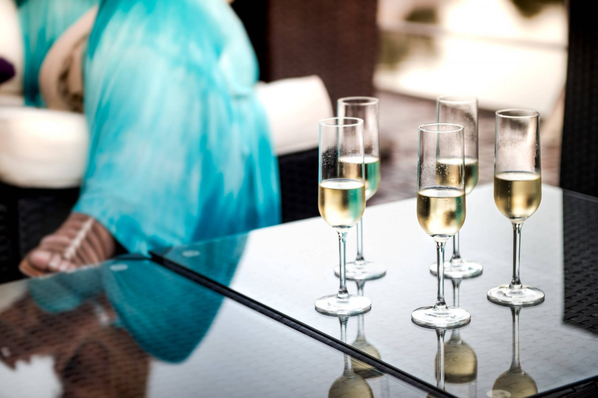 Champagne welcome on board the Grand Victoria luxury yacht
