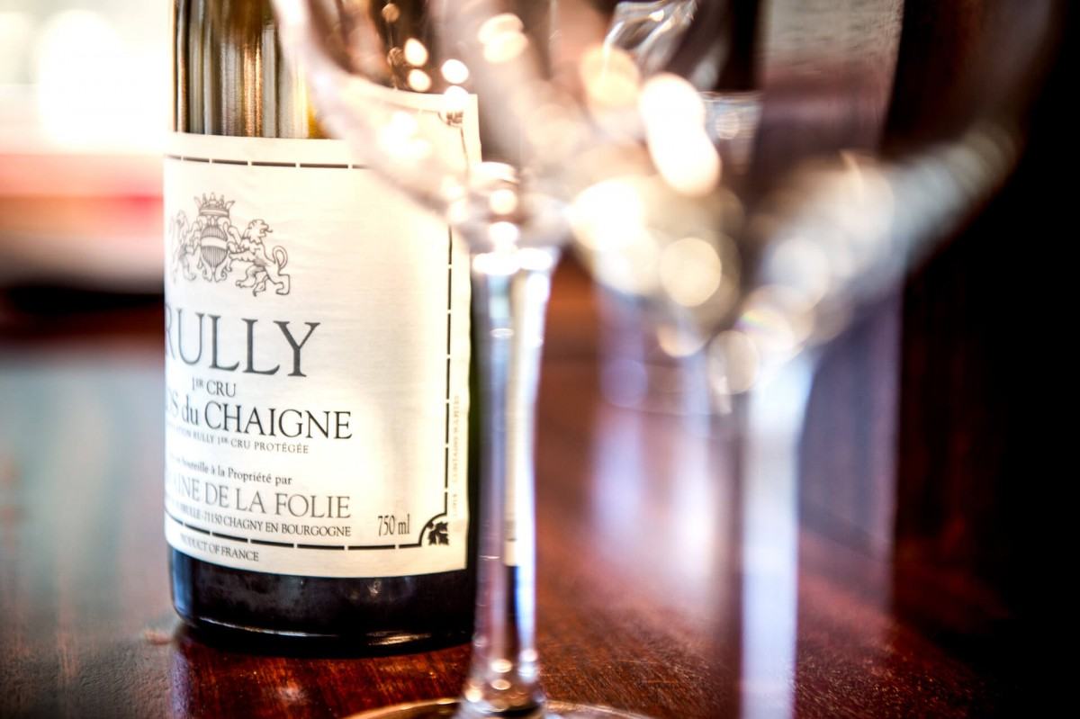 Rully Premier Cru wine on the Grand Victoria luxury yacht