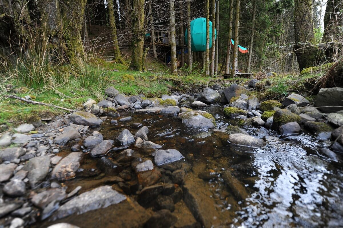 Close to nearby stream