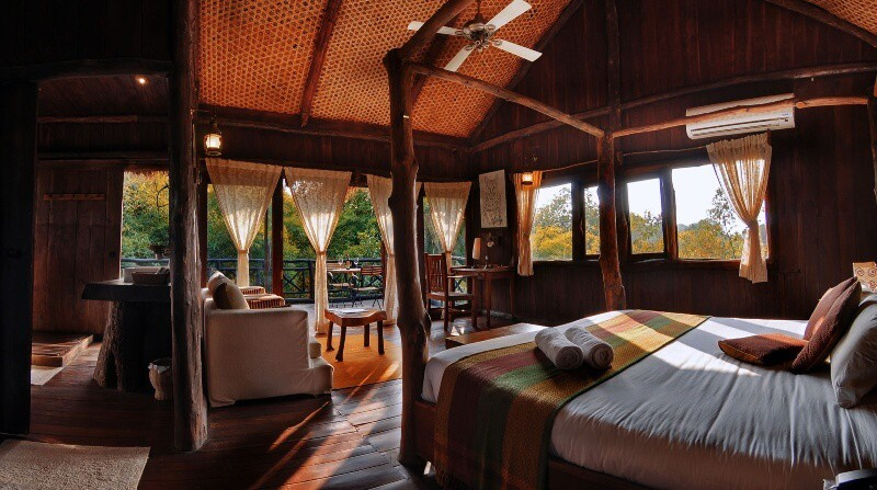 Bedroom with great interiors and lovely view