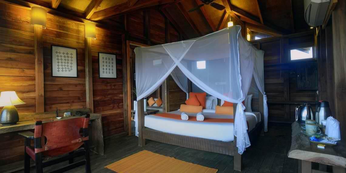 The quaint treehouse bedroom