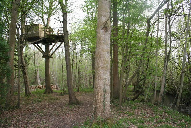 This treehouse is 10-meters off the ground
