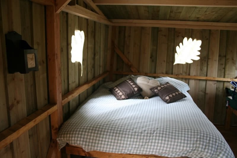 Comfy treehouse bed