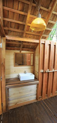 The wash area near the bathroom