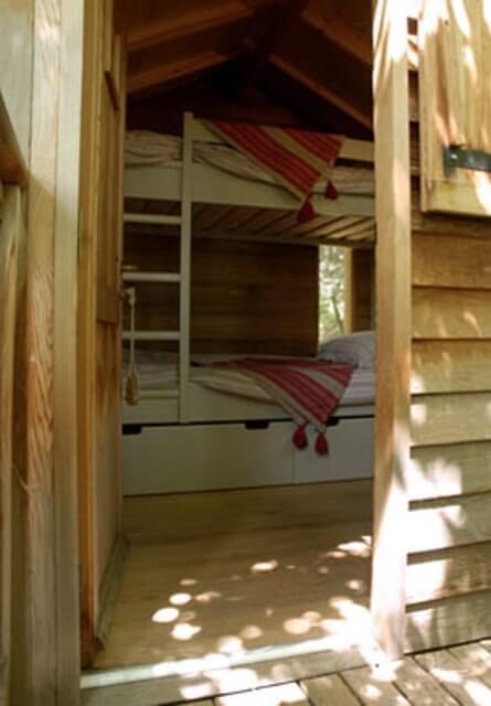 The bunk beds inside Mowgli