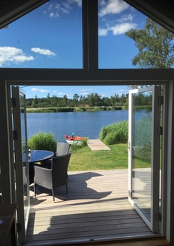 View from living room House with terrace is only 8 meters from the waterside!