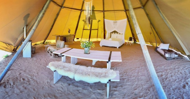 OurTipi (over 80 m2 surface with wonderfully soft sand)