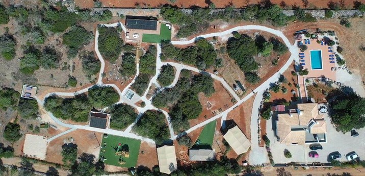 Aerial view of the 3 acre Village