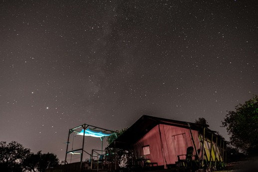 Tent in the night with beautiful stars even a clear Milky way