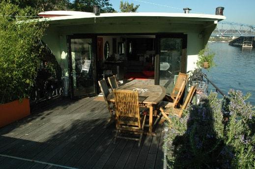 Go inside through the terrace