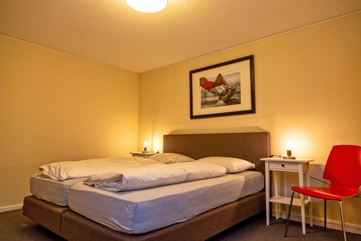 The large bedrooms have comfortable double beds.