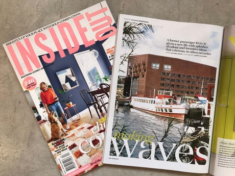 Your ship has been featured in several international interior design magazines, like InsideOut.