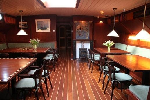 The cozy saloon